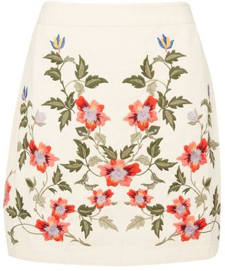 Topshop Floral embroidered skirt