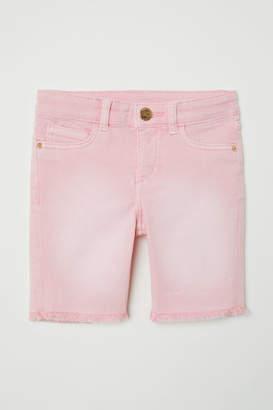 H&M Long Denim Shorts - Pink