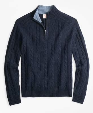 Brooks Brothers Wool-Blend Half-Zip Sweater
