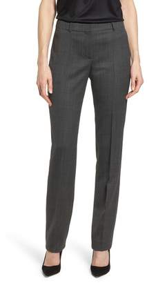BOSS Tamea Straight Leg Stretch Wool Suit Pants