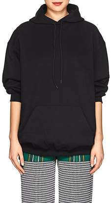 Balenciaga Women's Logo Cotton French Terry Hoodie