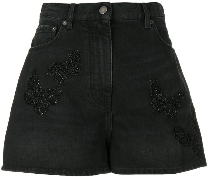 Jeans-Shorts mit lockerem Schnitt