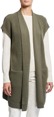 Lafayette 148 New York Cashmere Drape Vest