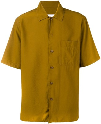 Ami Paris Camp Collar Short Sleeve Shirt With Chest Pocket