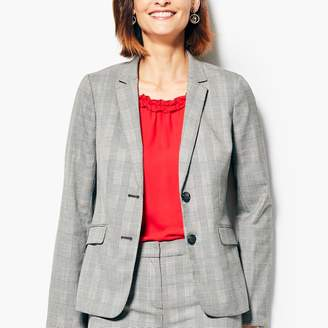 Talbots Glen Plaid Two-Button Blazer