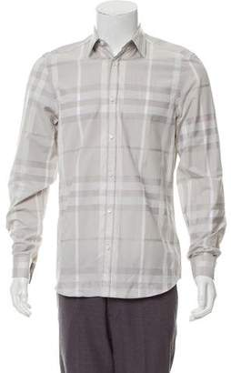Burberry Tailored Check Pattern Shirt