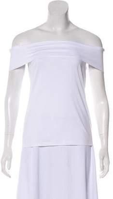 Tibi Off-Shoulder T-shirt