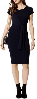 Karen Millen Tie-Front Rib-Knit Dress