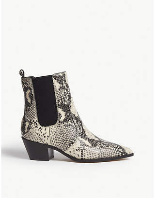 Paige Willa faux snakeskin boots