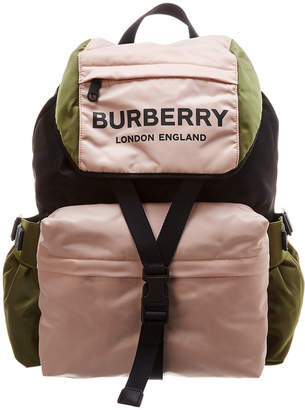125492498c81 Burberry Logo Print Tri-Tone Nylon Backpack