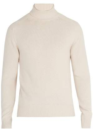 Tomas Maier Roll Neck Cashmere Sweater - Mens - Light Grey