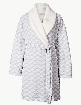 Marks and Spencer Cloud Print Long Sleeve Dressing Gown