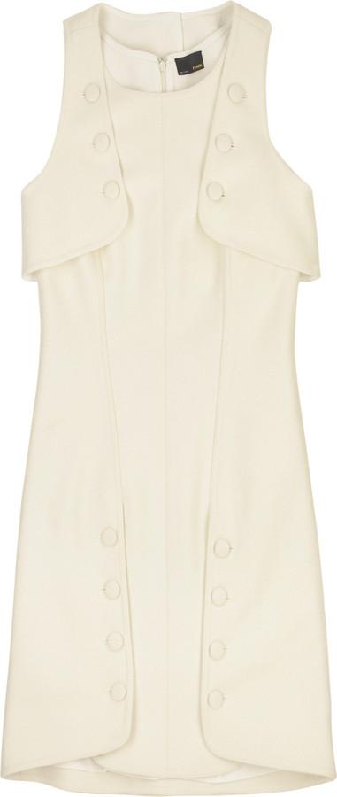 Fendi Wool cape dress