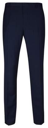 Burton Mens Big & Tall Blue Checked Skinny Fit Stretch Trousers