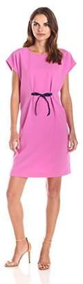 Lark & Ro Women's Short Sleeve Bow Tie Dress