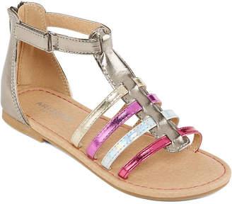 Arizona Big Kids Girls Carla Adjustable Strap Gladiator Sandals