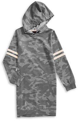 Material Girl Camo-Print Hooded Sweater Dress
