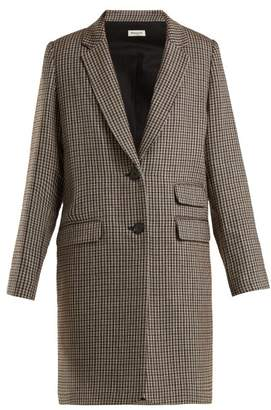 Masscob Brigitte Checked Wool Coat - Womens - Grey