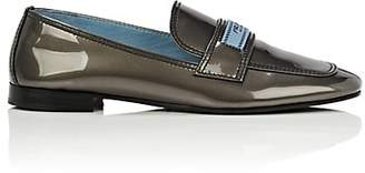 Prada Women's Patent Leather Loafers - Ferro