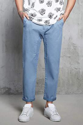 Forever 21 Twill Woven Cropped Pants