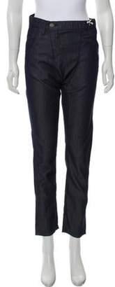 Etienne Marcel Poplin High-Rise Pants w/ Tags Blue Poplin High-Rise Pants w/ Tags