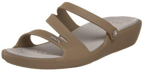 Crocs Women's Patricia Sandal,Khaki/Pearl,8 M US