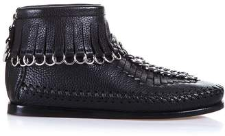 Alexander Wang Montana Fringed Leather Boots