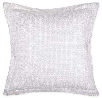 Lyon Pleated European Pillow Sham in Grey