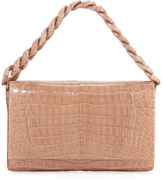 Nancy Gonzalez Convertible Chain-Trim Crocodile Flap Bag
