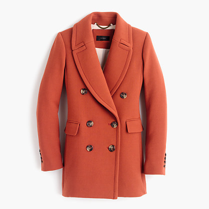 J.CrewDouble-breasted coat in double-cloth wool