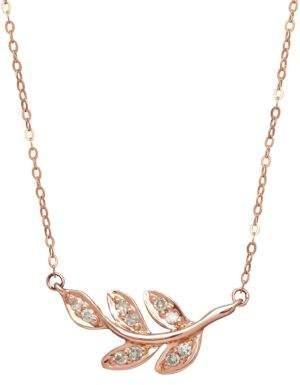 Lord & Taylor 14K Rose Gold Diamond Necklace