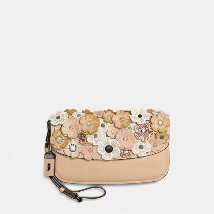 Coach New YorkCoach Clutch With Tea Rose - BEECHWOOD/BLACK COPPER - STYLE