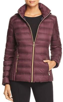 MICHAEL Michael Kors MICHAEL Packable Zip-Front Short Down Coat