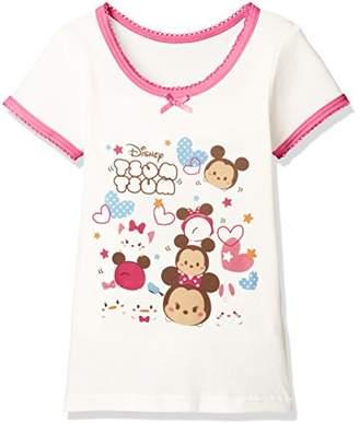 Disney (ディズニー) - [ディズニー] ディズニーツムツム3分袖Tシャツ 371100850 ガールズ オフ 日本 130 (日本サイズ130 相当)
