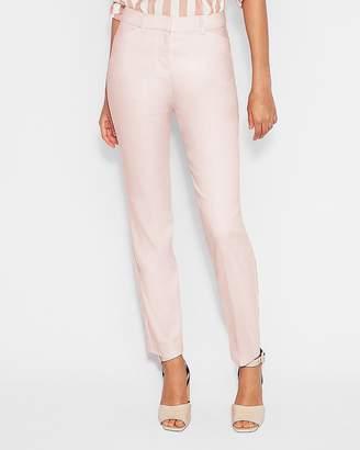 Express Mid Rise Linen-Blend Ankle Curve Pant