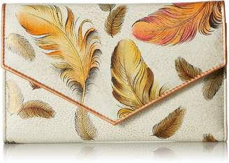 Anuschka ANNA by  Women's Handpainted Leather Check Book Wallet Checkbook Cover