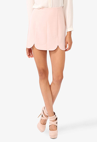 Forever 21 Scalloped Miniskirt