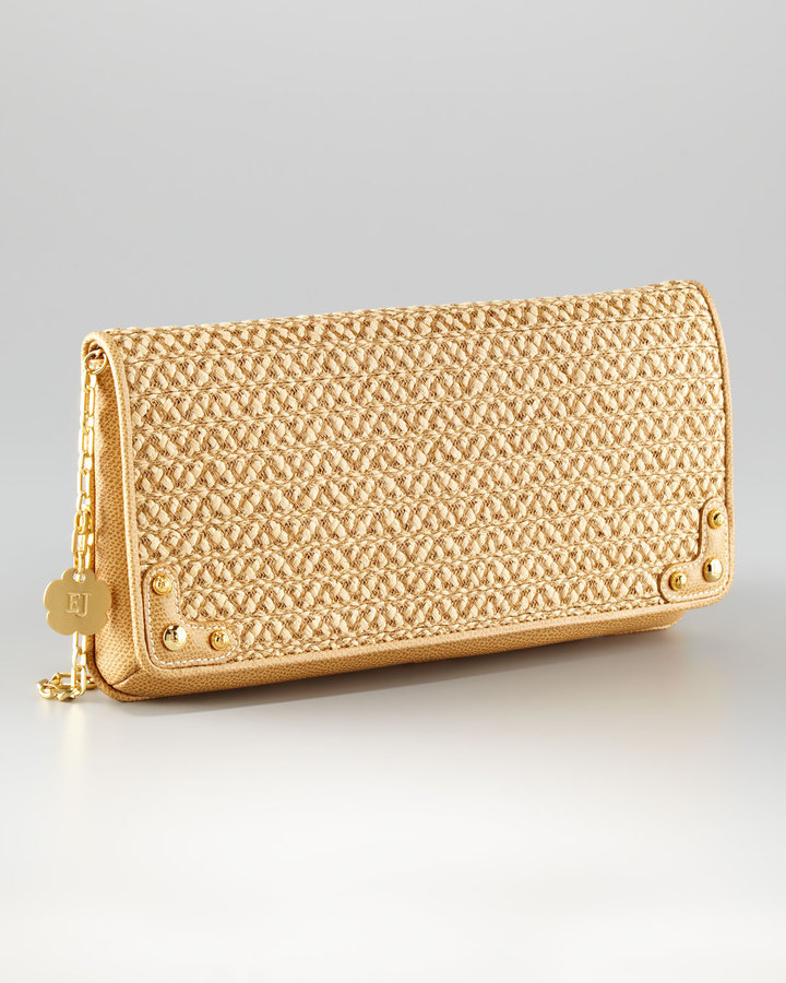 Eric Javits Squishee Envelope Clutch, Large