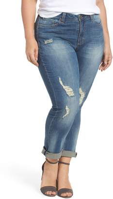 Seven7 Ripped & Embellished Skinny Jeans