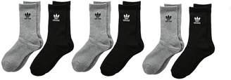 adidas Originals Trefoil Crew 6-Pack Crew Cut Socks Shoes