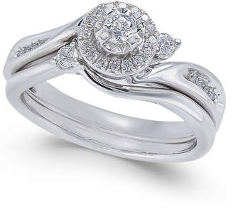 Macy's Diamond Twist Bridal Set (1/3 ct. t.w.) in 14k White Gold
