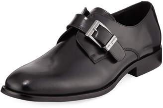 Karl Lagerfeld Paris Buckle Leather Dress Shoe