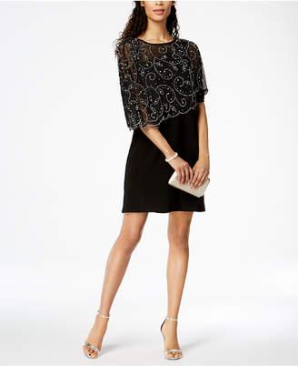 MSK Embellished Ruffle One-Shoulder Dress
