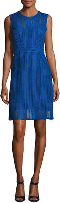 Neiman Marcus Kobi Halperin Jaydyn Sleeveless Crocheted Cotton Dress, Blue