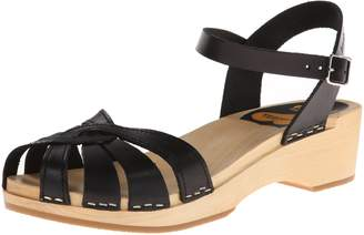 Swedish Hasbeens Women's Cross Strap Debutant Flat Sandal