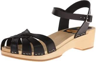 Swedish Hasbeens Women's Cross Strap Debutant Flat Sandal