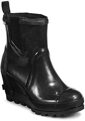 Sorel Womens Wedge Chelsea Gloss Rain Boots