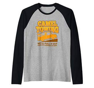 Camel Towing Funny Trow Trucker We'll Put It Out Caravan Raglan Baseball Tee