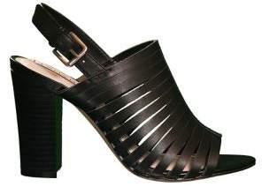 Tahari Marlanna Strappy Block-Heel Leather Mules