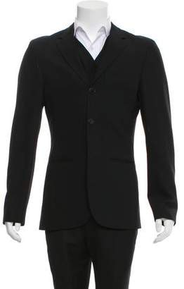 Jean Paul Gaultier Woven Three-Button Blazer `